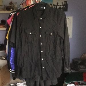 Soft black button down from Urban Outfitters